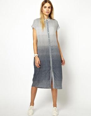Won Hundred Octa Shirt Dress in India Ink Print