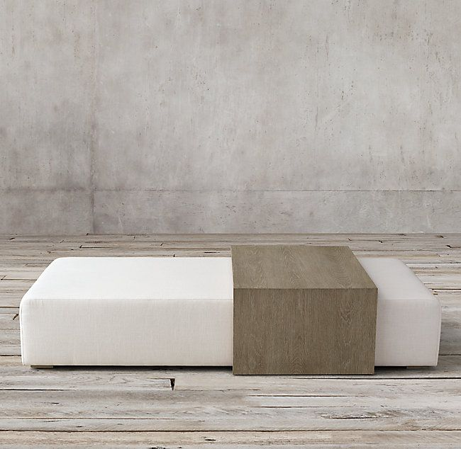 Bridge Fabric Coffee Table Ottoman