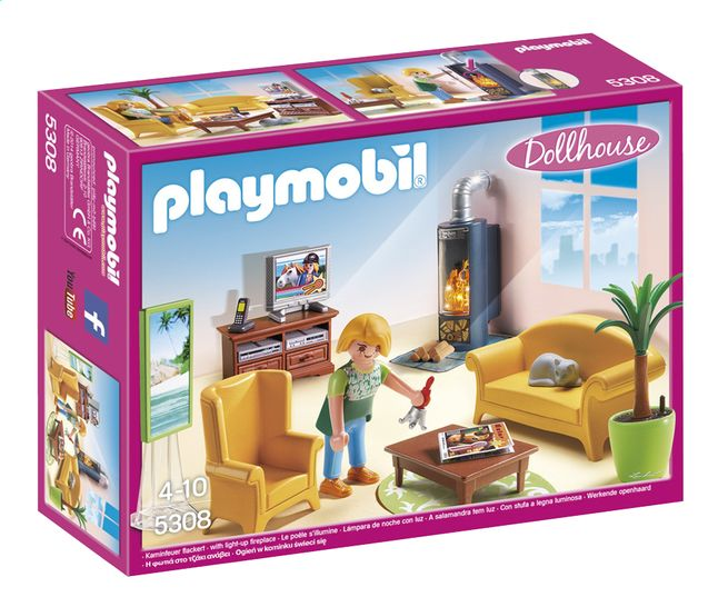 afbeelding van playmobil dollhouse 5308 woonkamer met. Black Bedroom Furniture Sets. Home Design Ideas