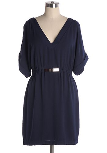 From Day to Night Dress in Navy