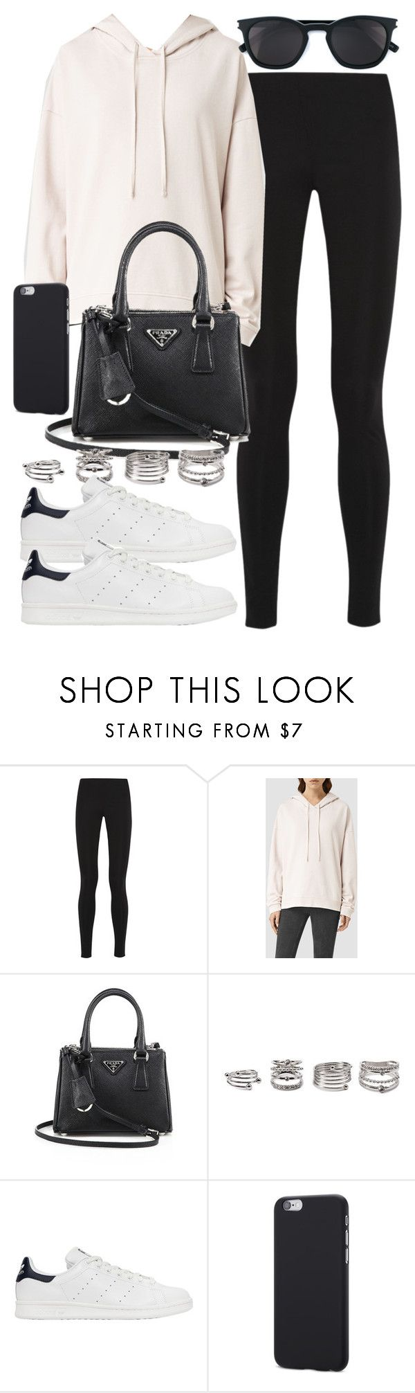 """Style #11399"" by vany-alvarado ❤ liked on Polyvore featuring Balenciaga, AllSaints, Prada, Forever 21, adidas Originals and Yves Saint Laurent"