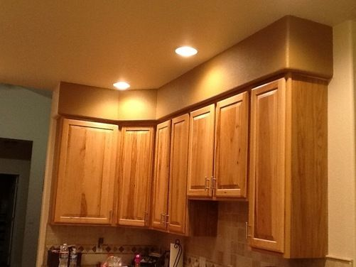 Need Help With Ugly Soffit Above Kitchen Cabinets Note Pro Comment About Adding Faux Small