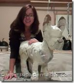 Whimsy Paper Mache.com: How 2 Make a Paper Mache Clay French Bulldog Sculpture