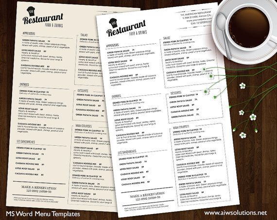 Best Menu H Images On   Restaurant Menu Design Menu