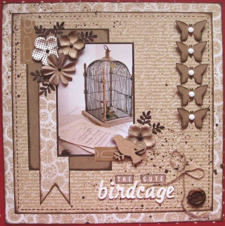 The cute birdcage - Kaisercraft - Mix and Match Collection