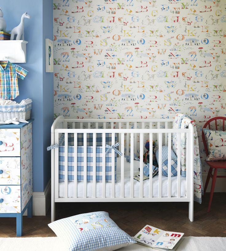 How to Style | Nurseries | Alphabet Zoo Wallpaper by Sanderson | Jane Clayton