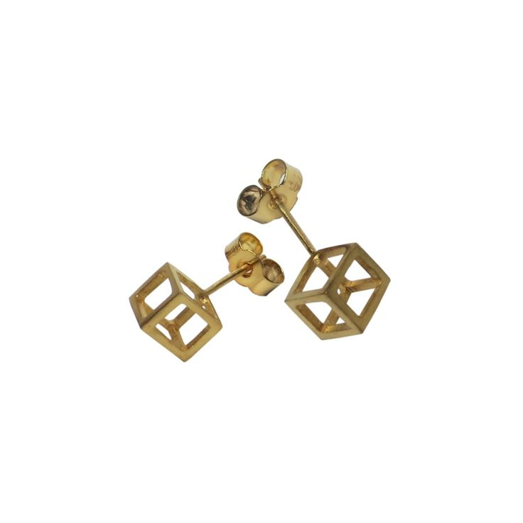 Stephanie Bates Double Cube Drop Earrings Long - 40mm Cnuh0fIA