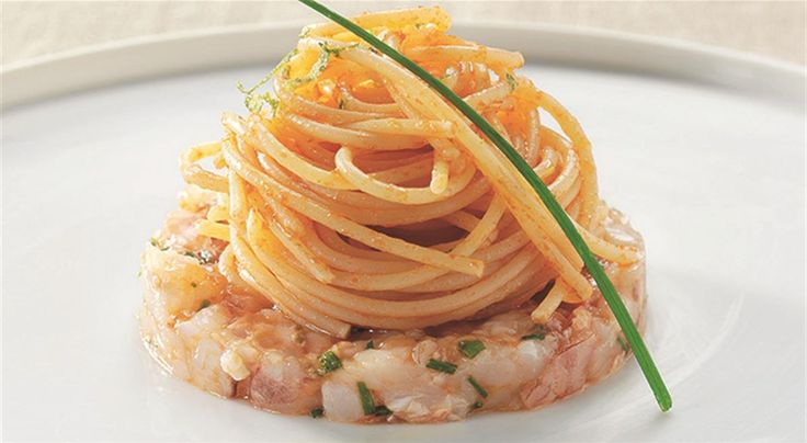 Fine dining lovers spaghetti tartare di gamberi rossi e for Spaghetti ricette