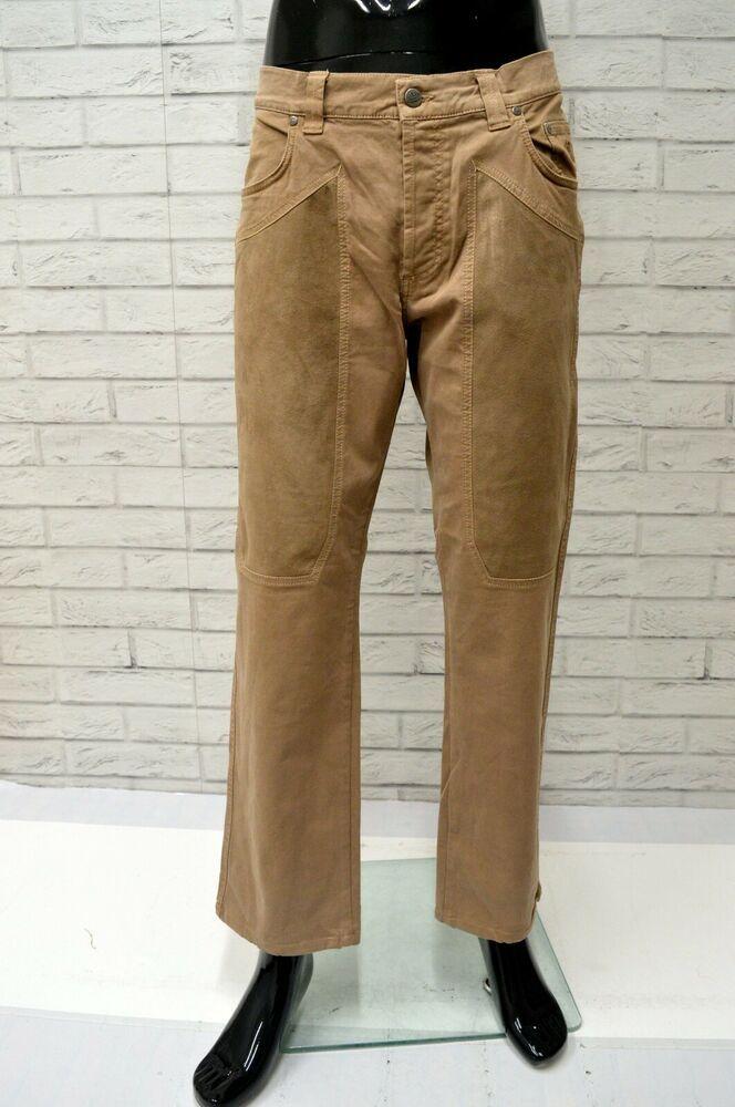 526ff91084d8f2 Jeans JECKERSON Uomo Taglia Size 40 Pantalone Pants Man Cotone Marrone  Classic