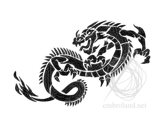 Dragon Machine Embroidery Design Instant Download