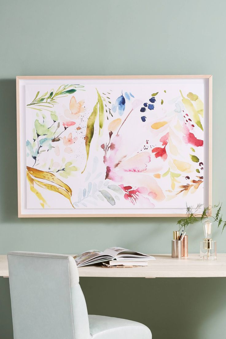 Slide View: 1: Watercolor Petals Wall Art