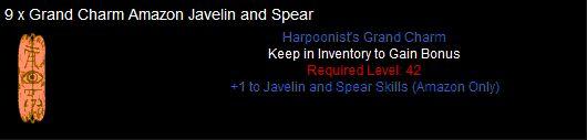 9 x Grand Charm Amazon Javelin and Spear - items7.com