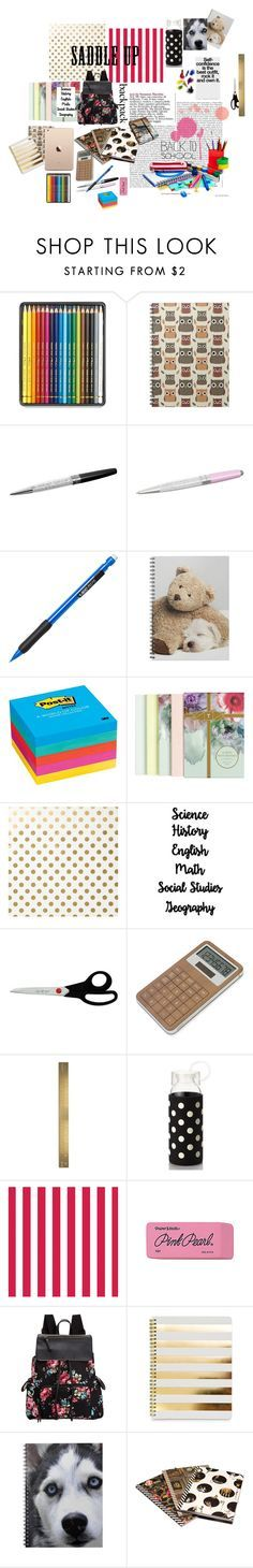 """""""What is in my Backpack?"""" by suhardafernando ❤ liked on Polyvore featuring interior, interiors, interior design, home, home decor, interior decorating, Caran D'Ache, Swarovski, Post-It and Ted Baker"""