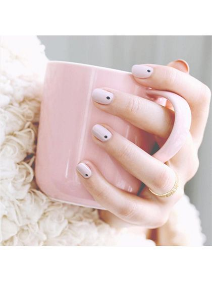 Wedding Nail Art: 23 Bridal Manicure Ideas - Minimalist dots | allure.com
