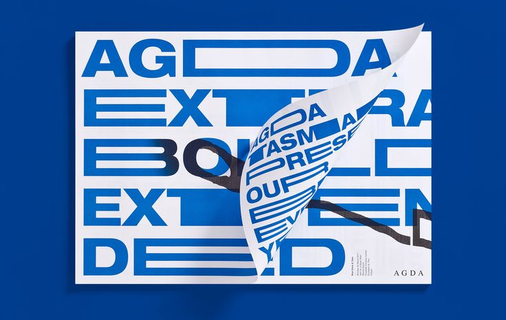 Design by Toko  AGDA Extra Bold Extended