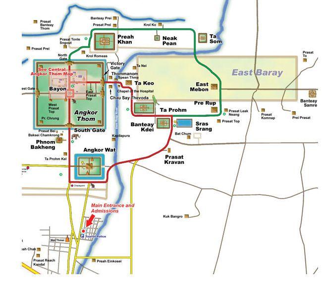 Angkor Wat map