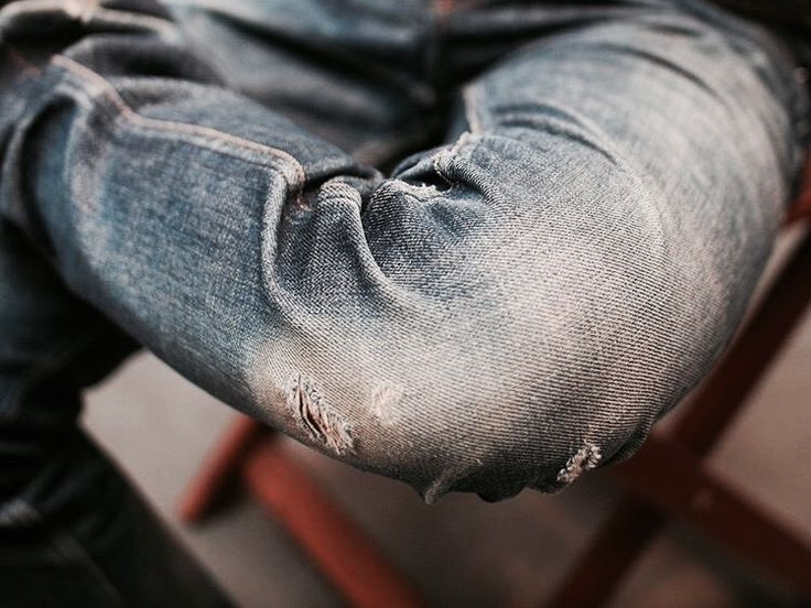 Worn out jeans and worn out dreams