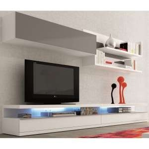 meuble tv - Meuble Tv Blanc Glossy