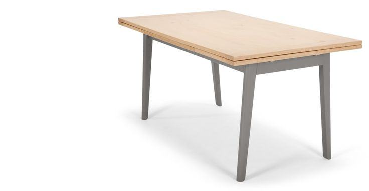 Kleur Extendable Dining Table, Pine and Grey | made.com