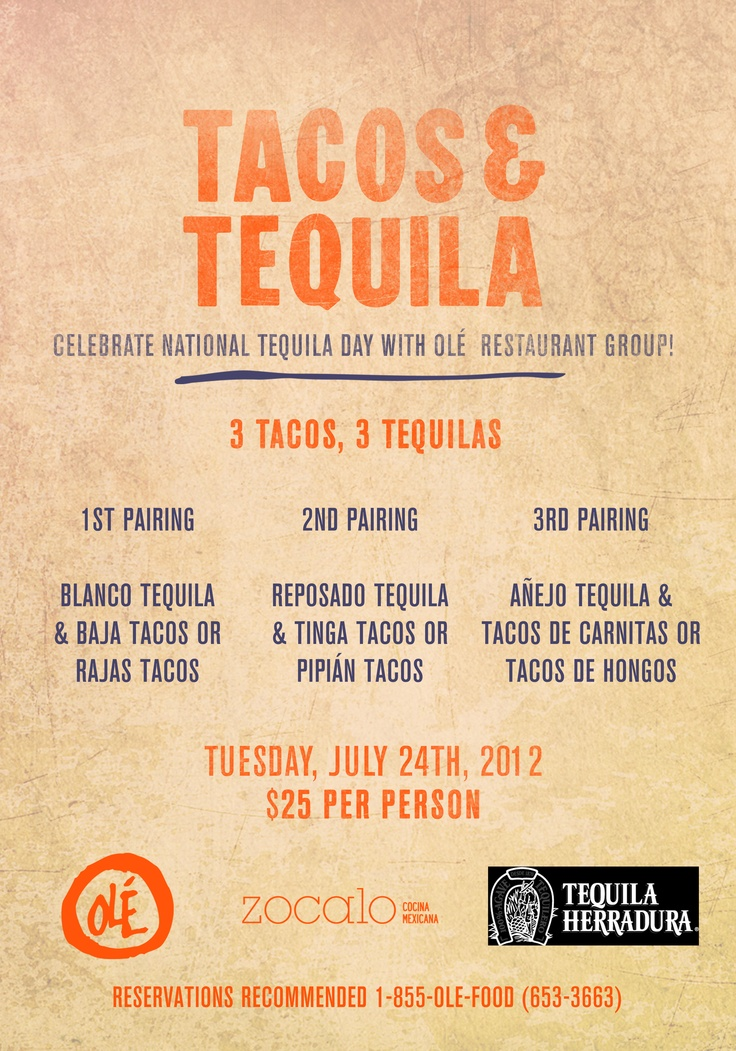 Tacos & Tequila at Ole Restaurant Group