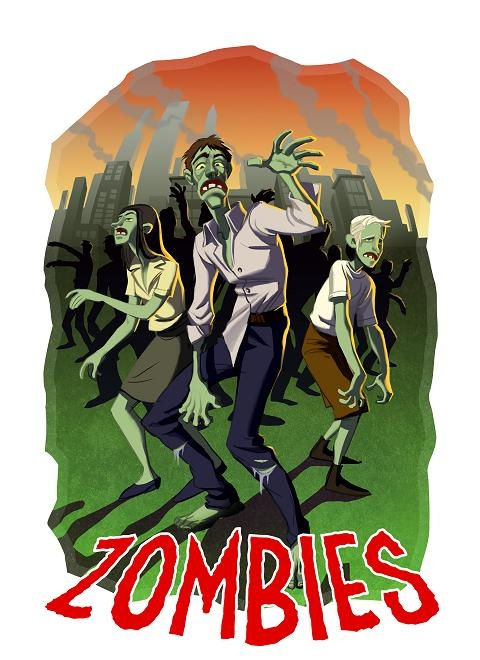 Zombies from Zombies, Aliens & Monsters (oh my!)  www.facebook.com/ambivalentoverlord  www.pozible.com/zam