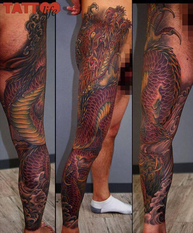Beautiful dragon leg piece by Kenji Shigehara Beautiful