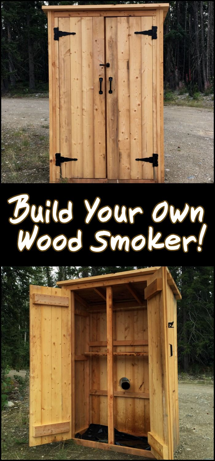 This DIY project is basically just a simple outdoor closet or shed with minor modifications to serve as a smokehouse.