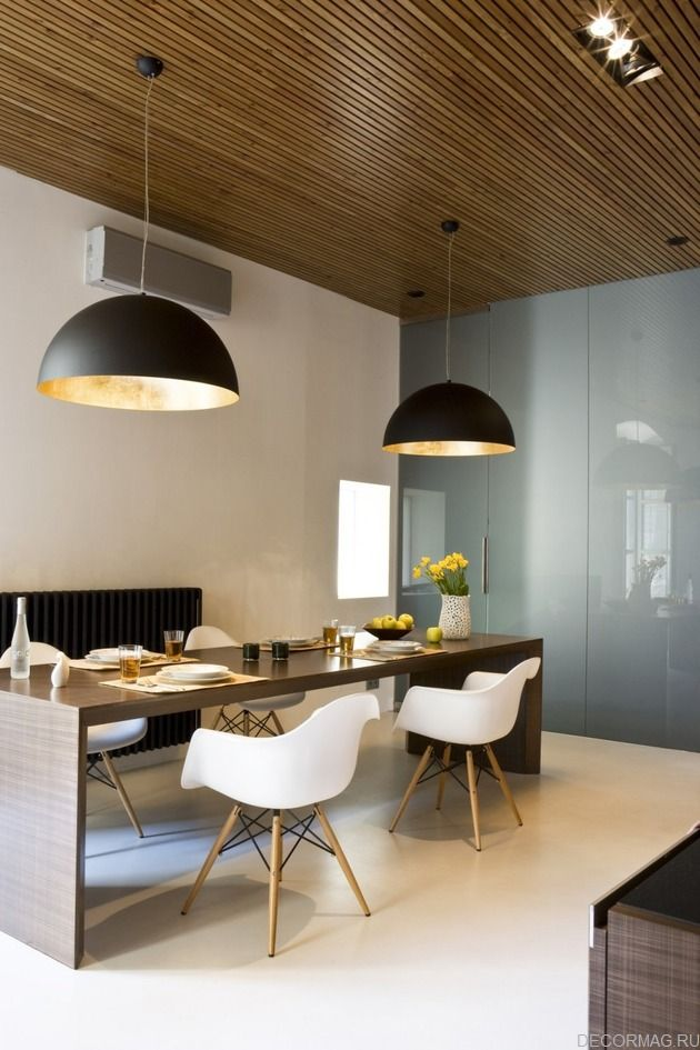 потолок из реек. потолок из деревянных реек