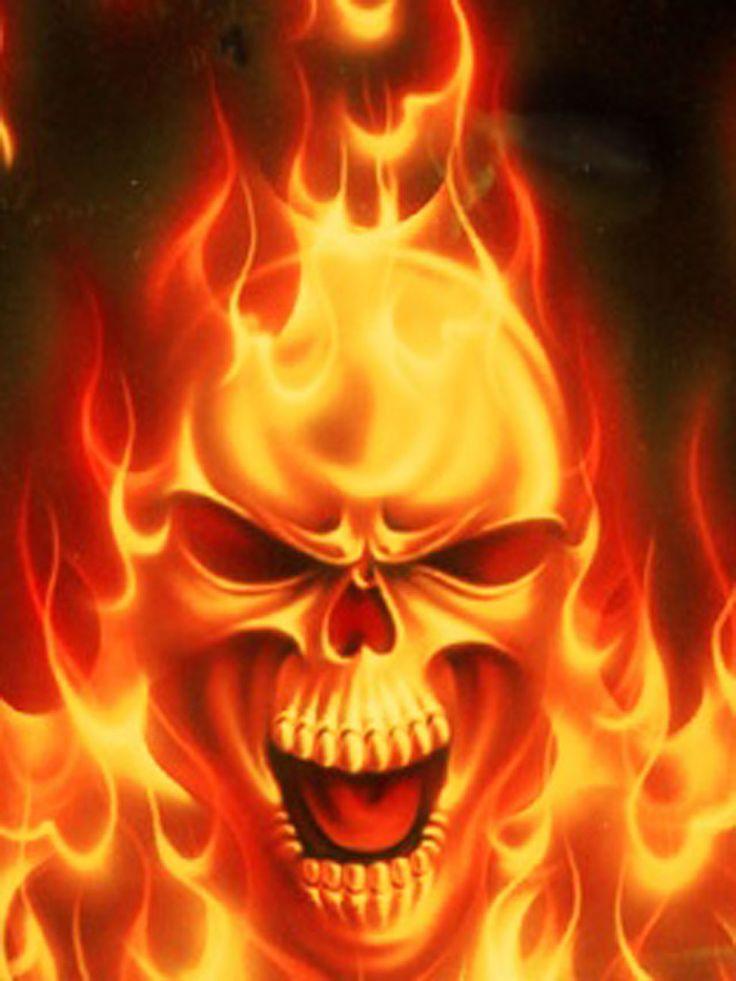 8589130483205 Cool Fire Skulls Wallpaper Hd 1280x