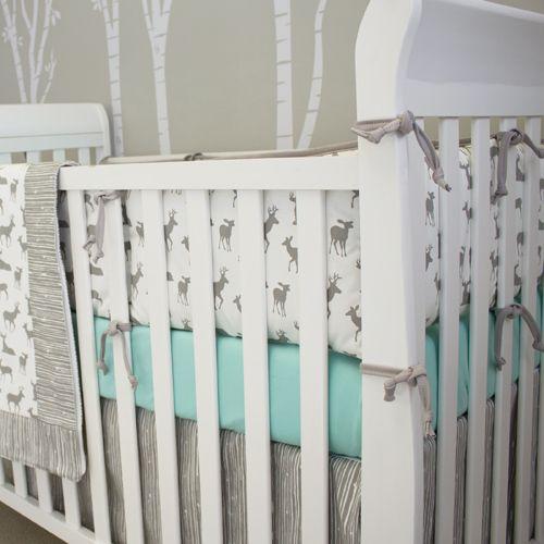 Sweet Kyla - GREY DEER Bumper Crib Pad, $139.99 (http://www.sweetkyla.com/grey-deer-bumper-crib-pad/)