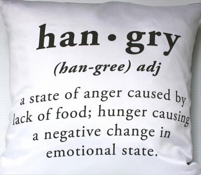 Sorry about the things I told you when I was hangry..