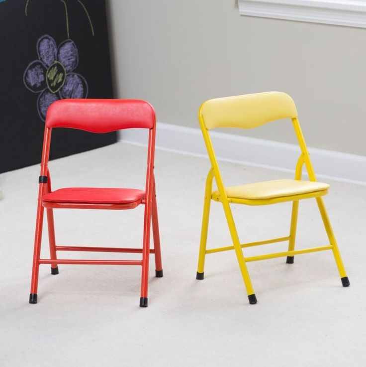 Kids Folding Chairs Showtime Activity Set Children Colorful Red & Yellow, 2 or 4 | Home & Garden, Kids & Teens at Home, Furniture | eBay!
