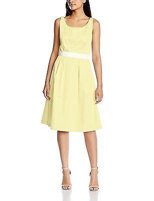 18, Yellow - Gelb (yellow 100), Daniel Hechter Women's 55033-79096 Sleeveless Dr