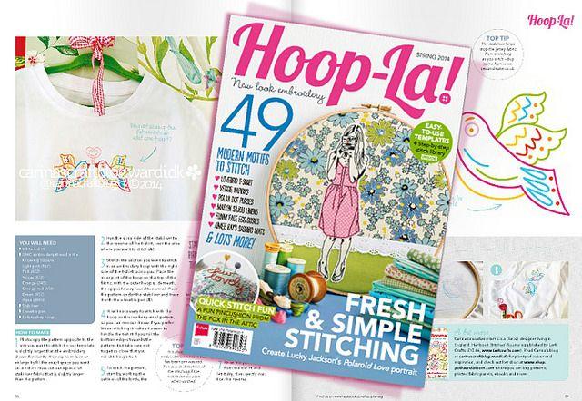 Hoop la new embroidery magazine pinterest
