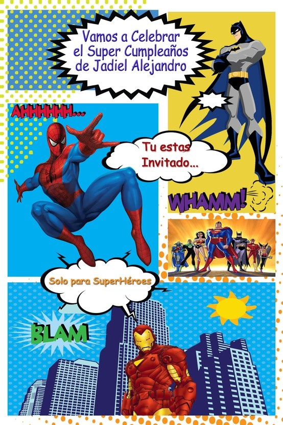 Invitacion Super Héroes