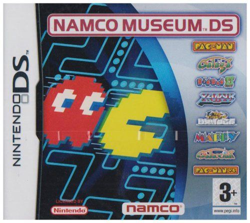 NAMCO Museum DS (Nintendo DS) - http://www.cheaptohome.co.uk/namco-museum-ds-nintendo-ds/  NAMCO Museum DS (Nintendo DS) Short Description Namco  Bandai brings its classic roster to the NDS, giving fans a handheld dose of  gaming history! Namco Museum DS allows payers a chance to enjoy their favorite  classics on the next generation of handhelds. In addition to the included  legendary roster, Namco Museum DS also brings an updated version of fan favorite,  Pac-Man Vs. Never