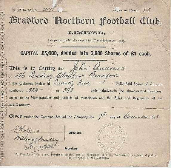 47 best Shares and Bonds of the football clubs images on Pinterest - company share certificates