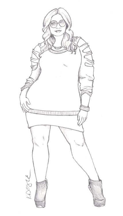 fashion illustration   Curvy Sketches   Page 2
