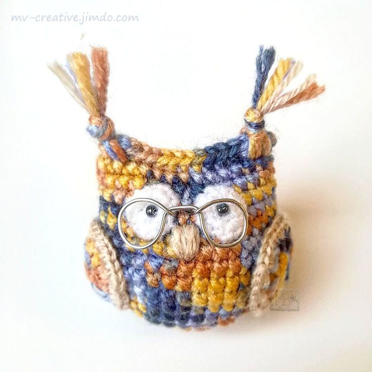 Маленькая совушка в очках, Авторская работа / Little owl in glasses, The work of authorship