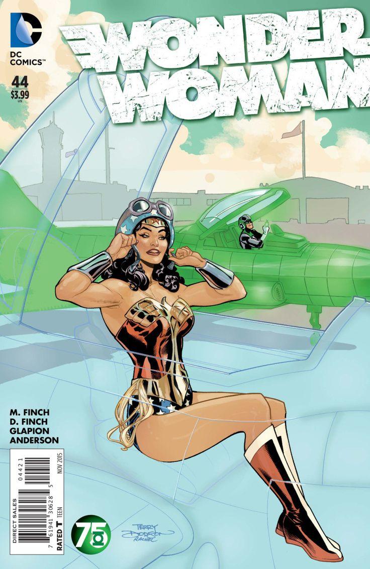 DC Comics - Wonder Woman (2011) #44 Green Lantern 75th Anniversary