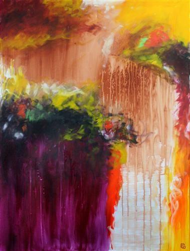 EsotericBeautiful Composition, Beautiful Bright, The Artists, Abstract Art, Christine Soccio, Acrylics Painting, Fuchsia Purple, Dark Purple, Art Painting