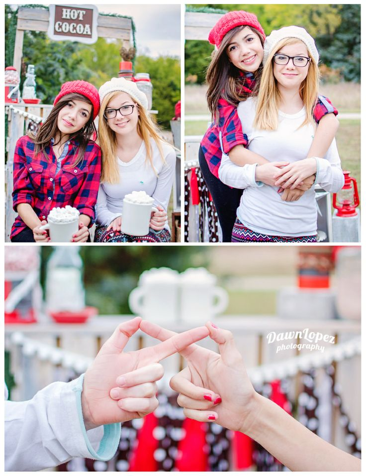 Hot Cocoa Best Friends Forever styled winter session.  hot Chocolate Teen Fashion photography Fort Worth Keller childhood photographer   Dawn Lopez Photography