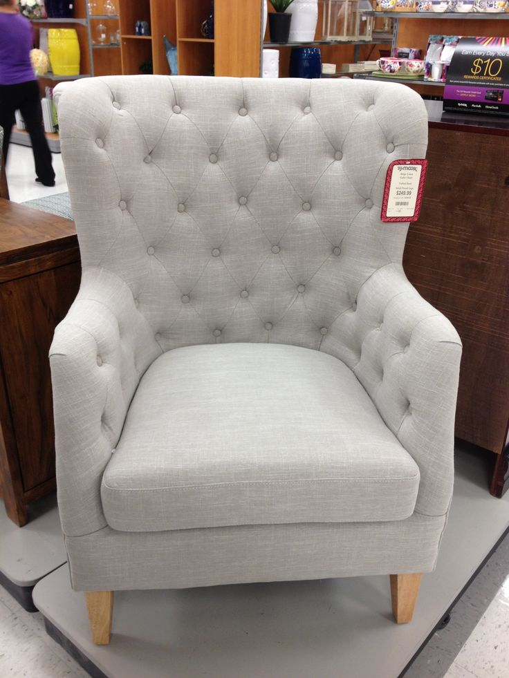 Grey Tufted Wingback Chair Furniture Pinterest Grey