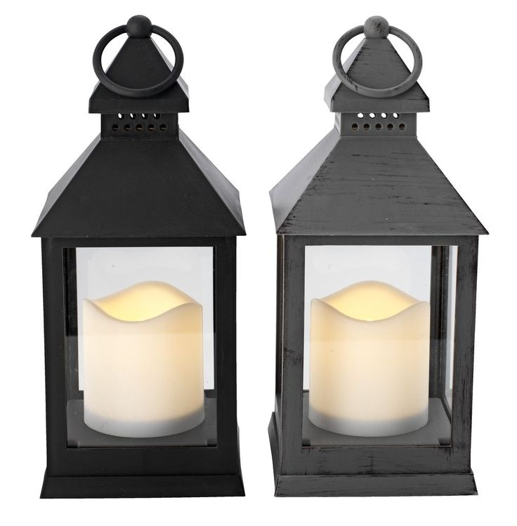 Lanterne AUGUSTINUS m/LEDlys ass | JYSK