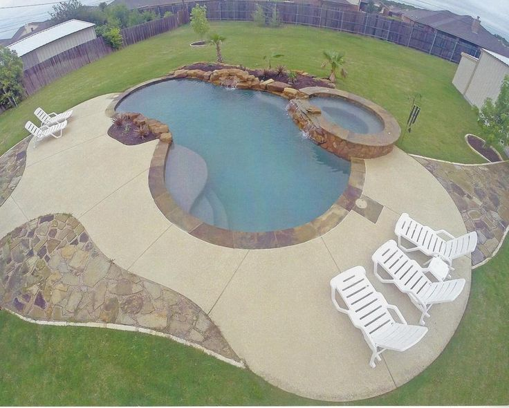 Concrete Pool Deck Resurfacing With Spray Knock Down