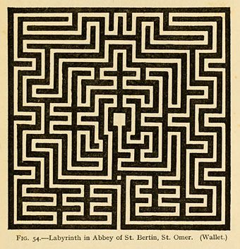 This book, Mazes and Labyrinths: A General Account of their History and Developments (1922) by William Henry Matthews,