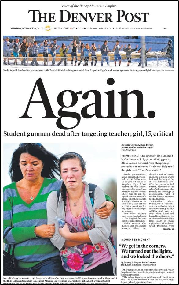 Outstanding piece by Brad Strait...Arapahoe HS shooting.