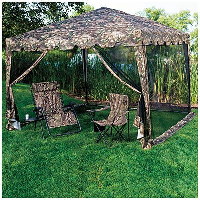 10 x 10 Camo Pop Up Sun Shelter with Netting at Big Lots