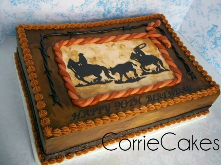 Birthday Cakes With A Western Roping Themed