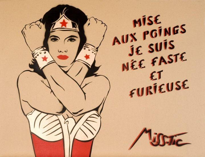 Artist UP - Miss.Tic poète d'art urbain, joue avec les stéréotypes...